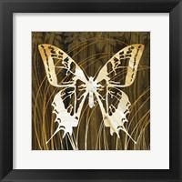 Framed Butterflies & Leaves I