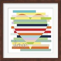 Framed Heart Rainbow