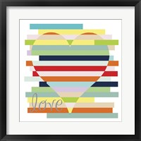 Framed Heart Rainbow