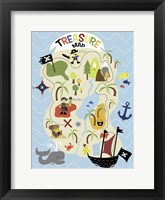 Framed Treasure Map
