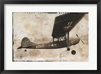 Framed Army Plane