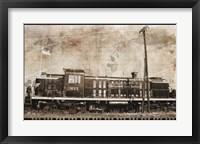 Erie Train 2 Framed Print
