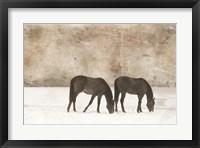 Grazing Pair Framed Print