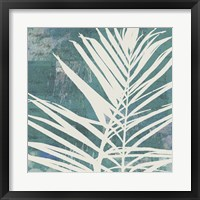 Fronds on Azure Framed Print