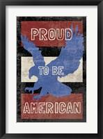 American Textured Framed Print