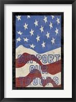 Troops Textured Framed Print