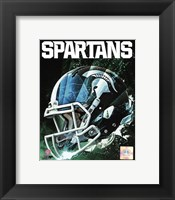 Framed Michigan State Spartans Helmet Composite