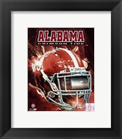 Framed University of Alabama Crimson Tide Helmet Composite