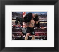 Framed Brock Lesnar Wrestlemania 31 Action