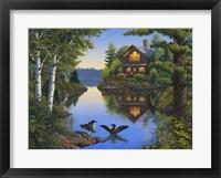 Framed Lake Cabin
