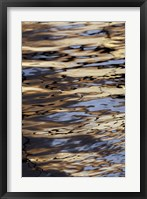 Framed Abstract sunrise reflection on water, Havana Harbor, Havana, Cuba
