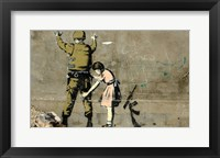 Framed Bethlehem Wall Graffiti (horizontal)