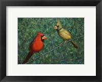Framed Cardinal Couple