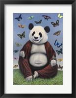 Framed Panda Buddha
