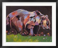 Framed Copper Bear