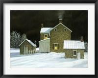 Framed Door Yard Snow