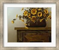 Framed Sunflower Basket