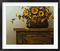 Framed Sunflower Basket