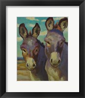 Framed Just Looking Burros