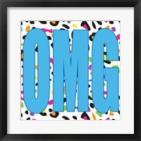 OMG Leopard Framed Print