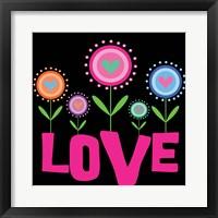 Framed Love Flowers