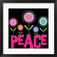 Framed Peace Flowers