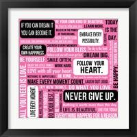 Framed Never Give Up 1