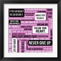Framed Never Give Up 2