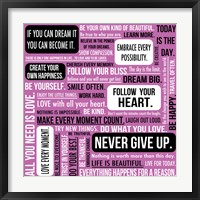 Never Give Up 2 Framed Print