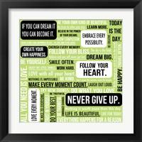 Framed Never Give Up 4