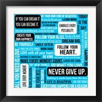 Framed Never Give Up 5
