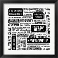 Framed Never Give Up 6