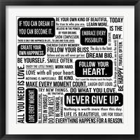 Never Give Up 6 Framed Print