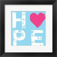 Hope Blue Framed Print