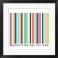 Accept No Imitations Framed Print