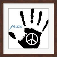 Framed Peace Hand