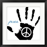 Framed Peace Hand