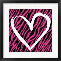 Zebra Love 2 Framed Print