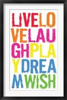 Live Love Laugh 2 Framed Print