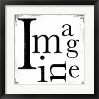 Imagine 3 Framed Print