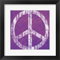 Purple Peace Framed Print
