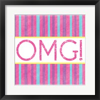OMG Stripes Framed Print
