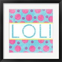 LOL Dots Framed Print