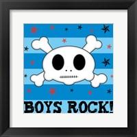 Boys Rock Framed Print
