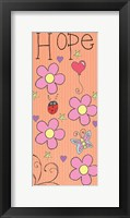 Hope Panel - Orange Framed Print