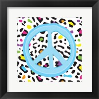 Framed Leopard Peace 1