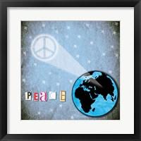 Peace Earth Framed Print