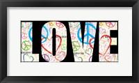 Love Graffiti - Color Framed Print