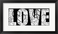 Love Graffiti Framed Print