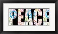 Peace Graffiti - Color Framed Print